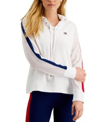 tommy hilfiger sport lace-up hoodie