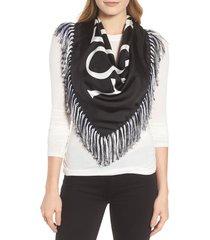 women's loewe anagram silk scarf