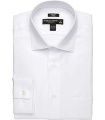 pronto uomo men's white queen's oxford slim fit dress shirt - size: 22 34/35 - only available at men's wearhouse