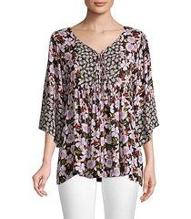 jade ameesha floral peasant blouse
