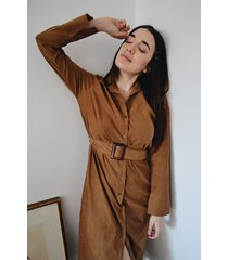 vestido marrón symmetria flora