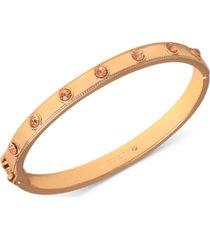 guess gold-tone crystal studded bangle bracelet