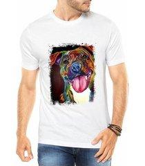 camiseta criativa urbana cachorro dog colorido psicodélico