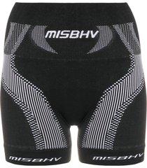 misbhv active wear shorts - black