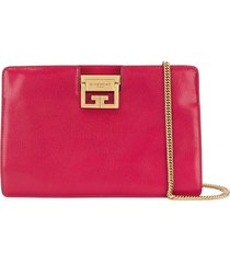givenchy flat grained evening clutch - pink