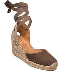 candida_ks sandalette med klack espadrilles brun unisa