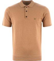 gabicci vintage jackson knitted polo shirt - butterscotch v42gk04