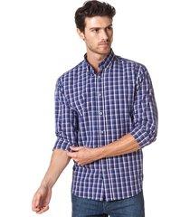 camisa azul equus kai classic fit
