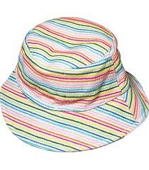 lele x solid & striped multicolor stitch bucket hat