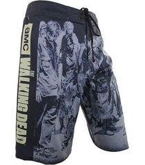walking dead amc zombie march walker tv mens board shorts swim suit trunks s-2xl