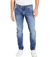 jeans slim tapered denim guess