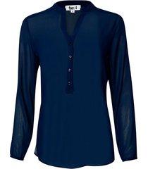 blusa manga larga color azul, talla 12