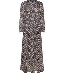 sheer feminine maxi dress with allover print maxiklänning festklänning svart scotch & soda
