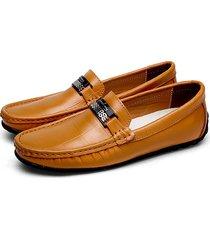 scarpe casual in pelle di mucca morbida di grandi dimensioni da uomo