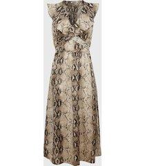 vestido glamorous largo multicolor - calce regular