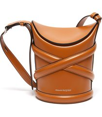 the curve' small leather bucket bag