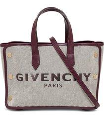 givenchy canvas tote bond handbag with logo