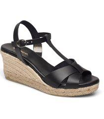 biadena sandal sandalette med klack espadrilles svart bianco