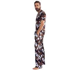 pijama thais gusmã£o longo militar savana militar - verde militar - masculino - dafiti