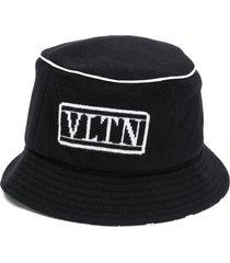 valentino vltn reversible bucket hat - black