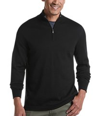 joseph abboud black 37.5® technology 1/4 zip mock neck modern fit sweater