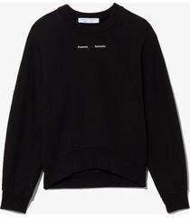 proenza schouler white label logo sweatshirt black xl