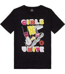 converse camiseta girls unite black