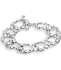kali sterling silver flat link bracelet