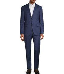 john varvatos star u.s.a. men's regular-fit wool suit - blue - size 40 l