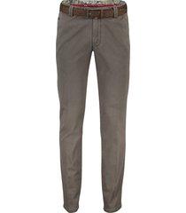 meyer pantalon grijs bruin flatfront
