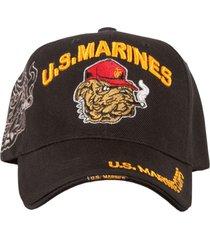 gorra militar beisbolera us marines original color negro.