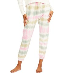 women's billabong casual coast tie dye sweatpants, size large - white