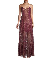 antoinette lace flare gown