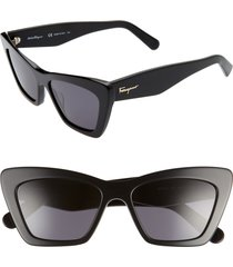 women's salvatore ferragamo 55mm cat eye sunglasses -