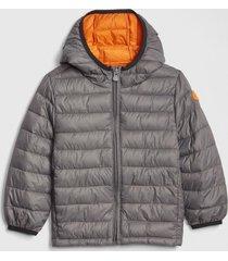 chaqueta coldcontrol puffer gris gap