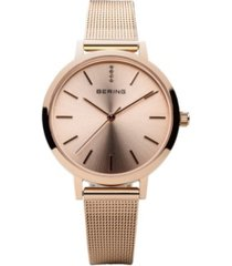 bering ladies' classic stainless steel mesh watch