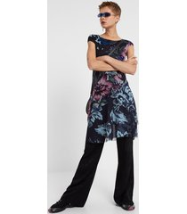 dress flowers animal print - material finishes - xxl