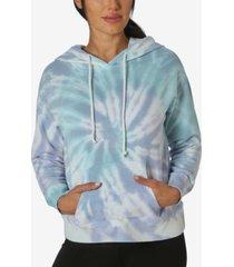 ultra flirt juniors' tie-dyed hoodie