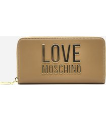 love moschino continental wallet with logo detail