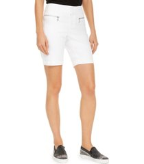 inc polished zip bermuda shorts, created for macy's
