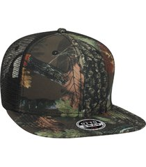 "otto camouflage superior polyester twill square flat visor ""otto snap"" six panel"