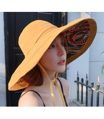 señoras exterior nueva sombra sombrero amarillo