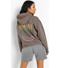 tal gelicenseerde nirvana hoodie met rugopdruk