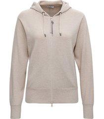 brunello cucinelli beige cashmere hoodie