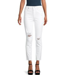 joe's jeans women's high-rise ankle straight jeans - white - size 24 (0)