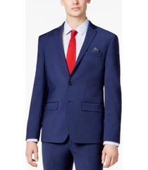 bar iii men's skinny fit stretch wrinkle-resistant wool suit jacket, created for macy's