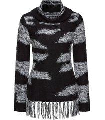 maglione con frange (nero) - bodyflirt boutique