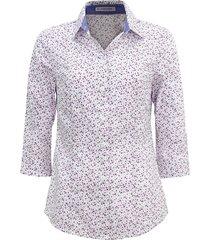 camisa intens estampada branca/roxa