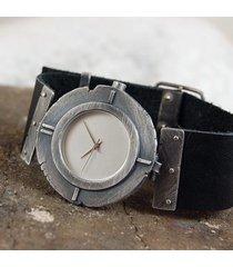 srebrny zegarek 005