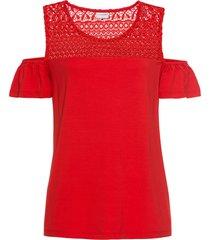 maglia in jersey con spalle scoperte (rosso) - bodyflirt